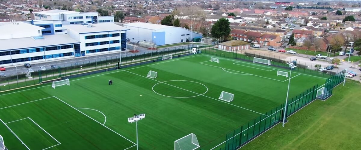 Aerial view of 3G Pitch at Queens Drive campus