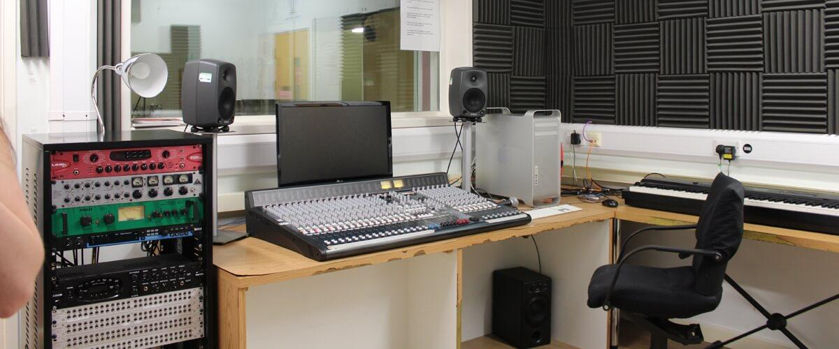 Recording studio at Queens Drive campus