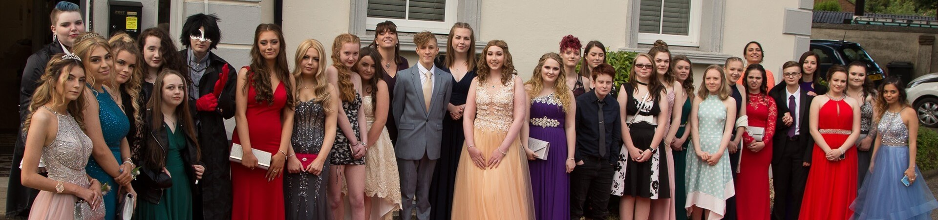 Students attending the Pre-16 Prom