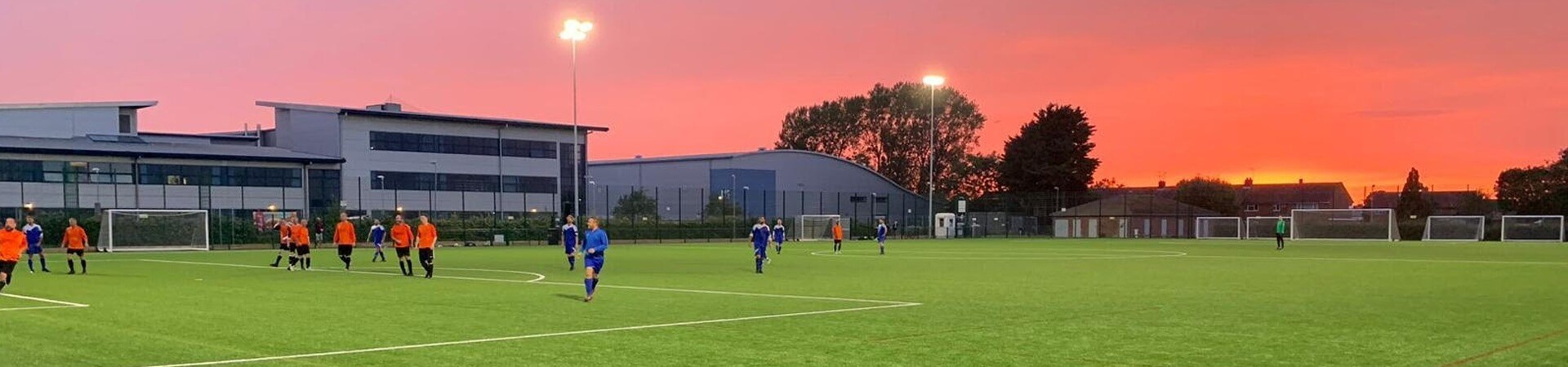 Football match at Queens drive 3G pitch