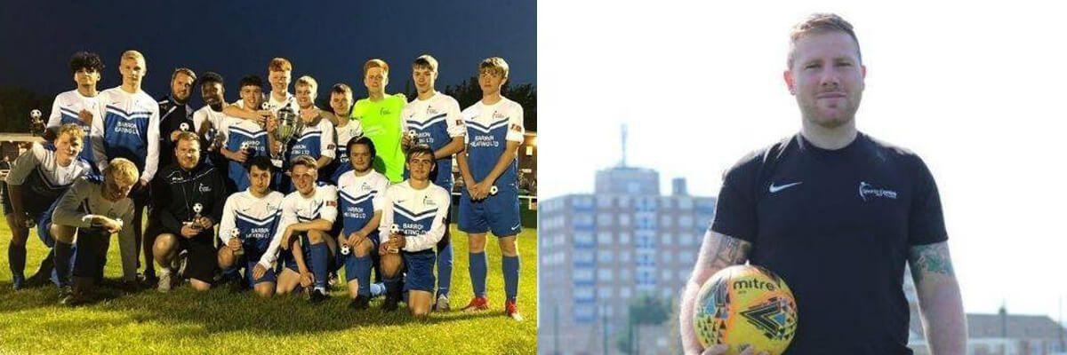 Ryan Elliot and football academy team